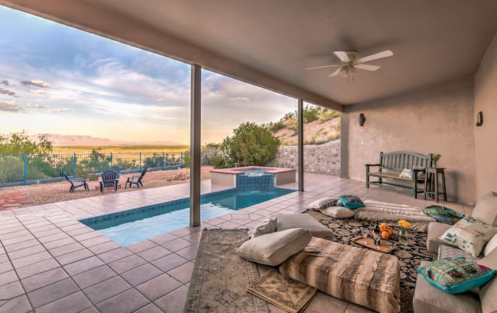 Luxury Mesilla Pool Home- River & Mountain Views!
