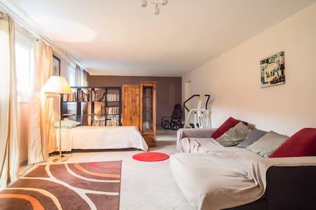Bel appart 55m2 - réz, jardin & spa - Appartement