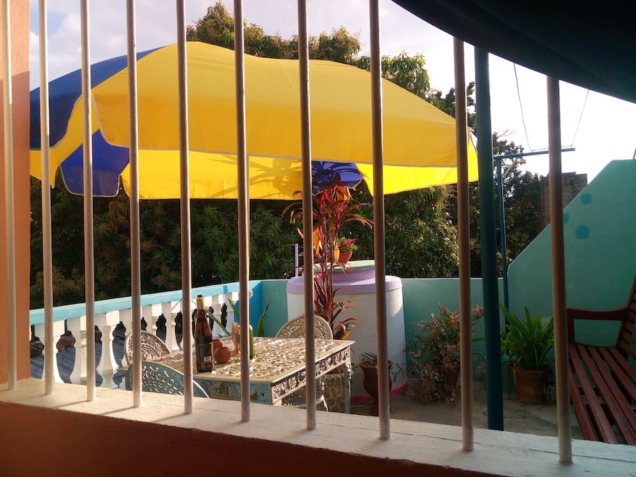 terraza privada del huesped
