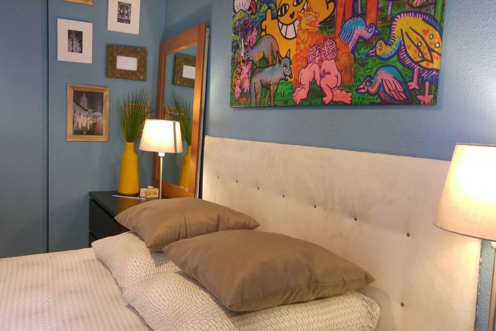 votre chambre: lit queen size 160x200
