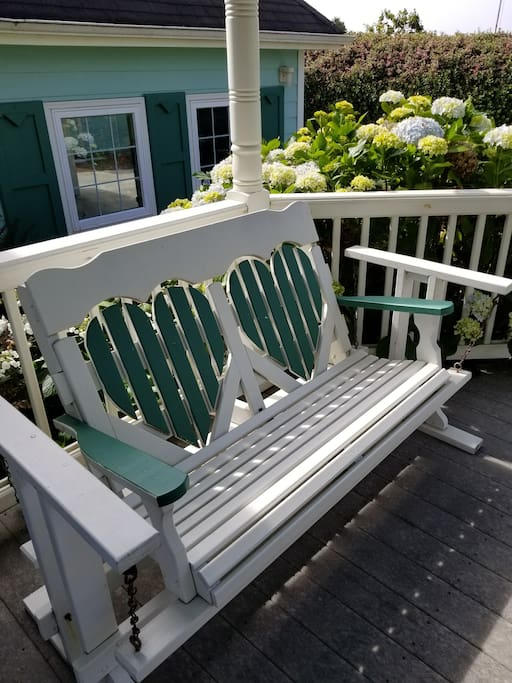 Sit outside and enjoy the fresh Ocean air