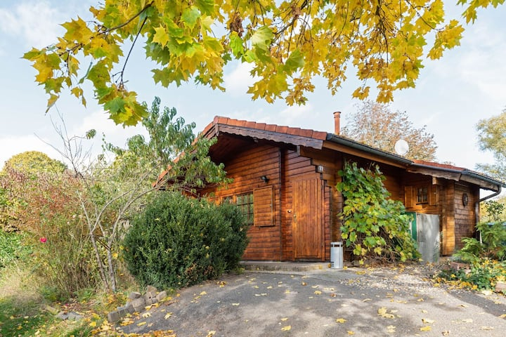 Beautiful wooden holiday home in Hesse with private garden and a large terrace