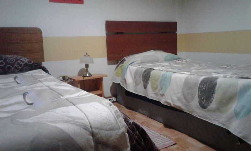 Comfortable Room with two single beds