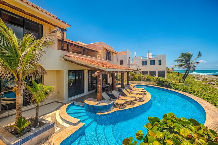 Oceanside Villa with Pool and Caribbean Views