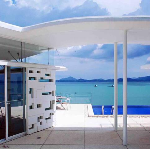 Villa yamu super Seaview✅【 含早餐女佣、厨师】百米无边私人泳池,含接送机!