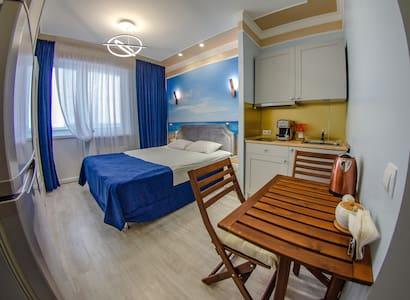 Studio apartment by the sea in the Olympic Park