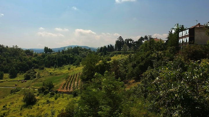 Casa S. Michele: bagno a sbalzo sulle colline