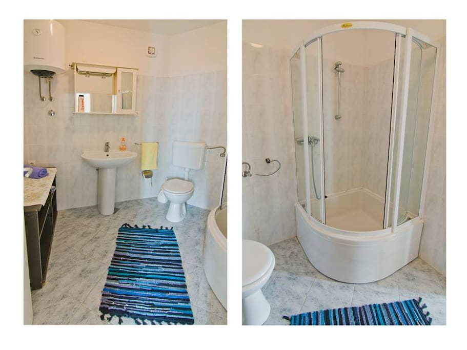 You have a private bathroom in the studio, with a spacious shower.