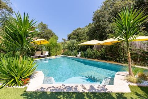 2 pièces 40 m² avec piscine, 200 m des plages