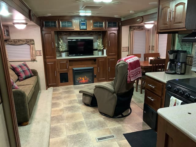Spacious, private camper with no hidden fees