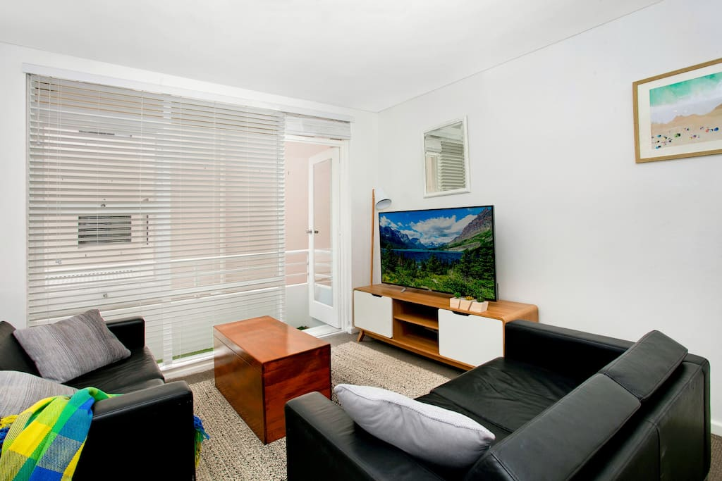 55inch TV and quality sound system, Spacious living areas