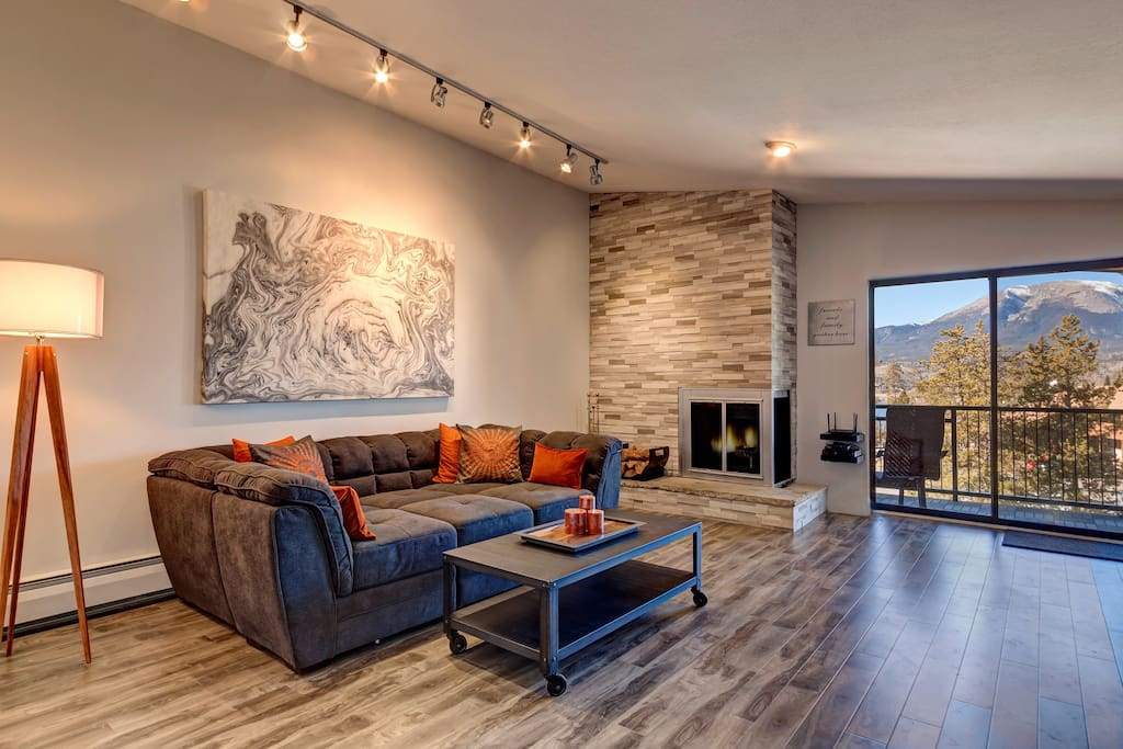 Living Room Sectional converts to additional sleeping option