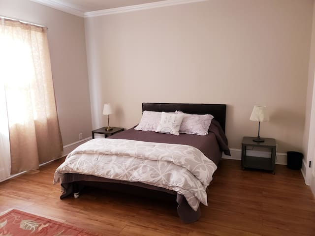 Master bed with ensuite. Two more bedrooms and one extra full bath.
