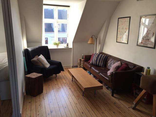 Cozy openplan home with woodburner - Kopenhagen