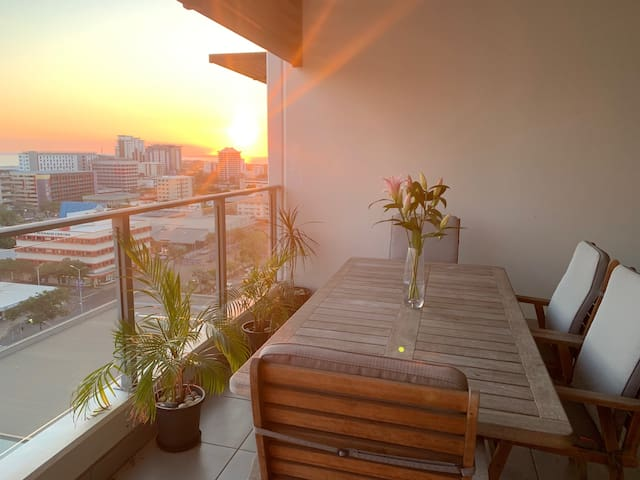 Your private balcony with BBQ. Enjoy the sunset views!