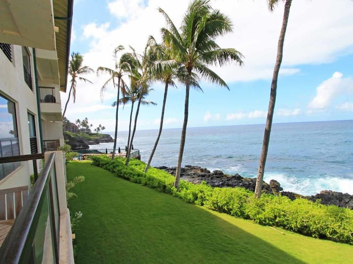 Family Fave! Casual Condo w/Lanai, Full Kitchen, WiFi, Washer/Dryer–Poipu Shores 204A
