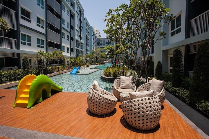 Cozy 2 Bedrooms, beach 200 meters. - Hua Hin - Condominio