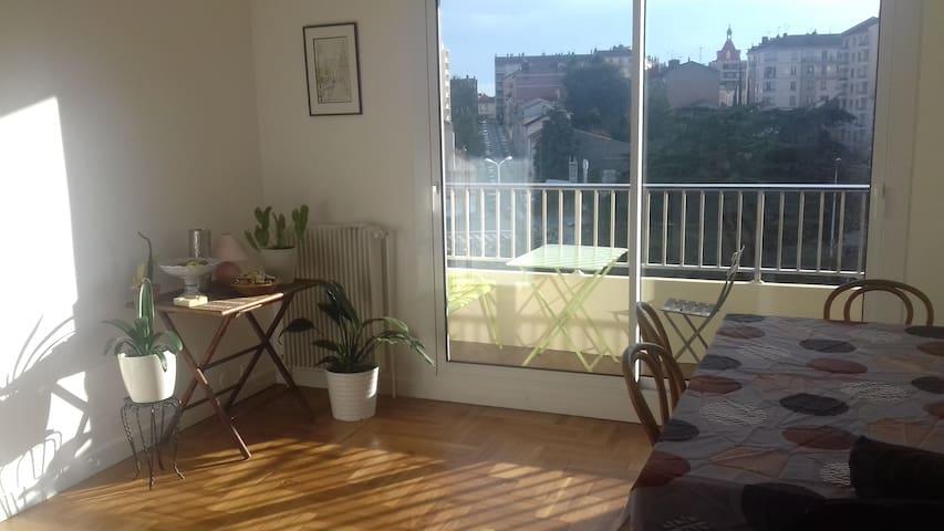 Croix-Rousse, chambre calme vue dégagée & terrasse