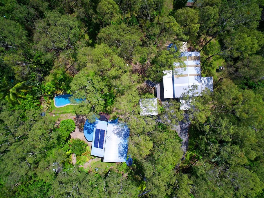 A privately owned bush property with 12m pool