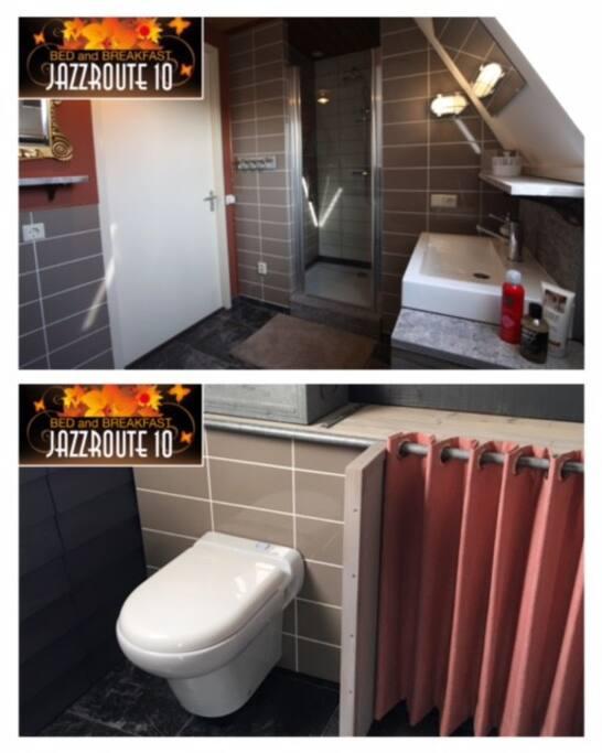 Luxe badkamer met toilet