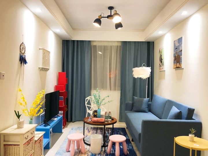 北欧蓝一室一厅、独卫、无清洁费、中央空调、下瓦房、财经大学、科技大学、梅江、土城陈塘庄复兴门地铁站。