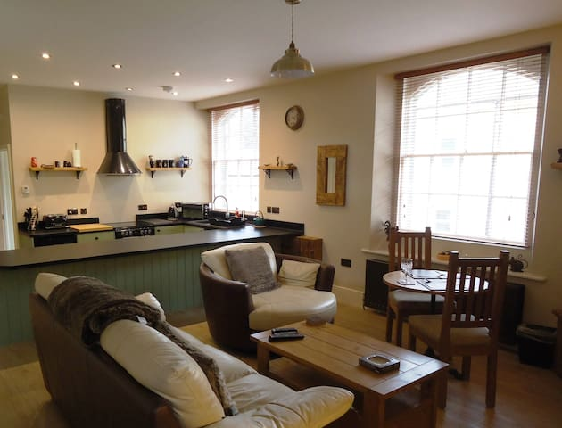 Luxury one-bedroom holiday apartment with log fire - Alnwick - Appartement