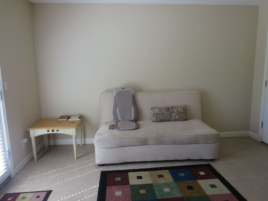 Futon (queen size) in Family room