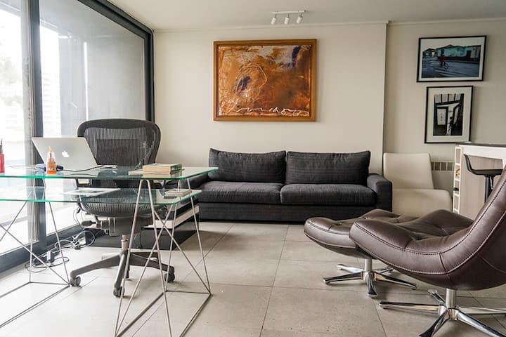 Moderno y luminoso departamento/studio