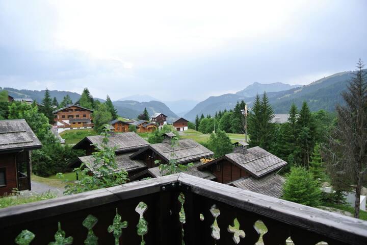 Mooi chalet in Les Gets met uitzicht op de bergen