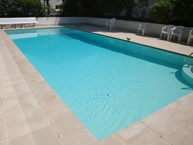 Cannes 3 pièces avec piscine - proche Croisette