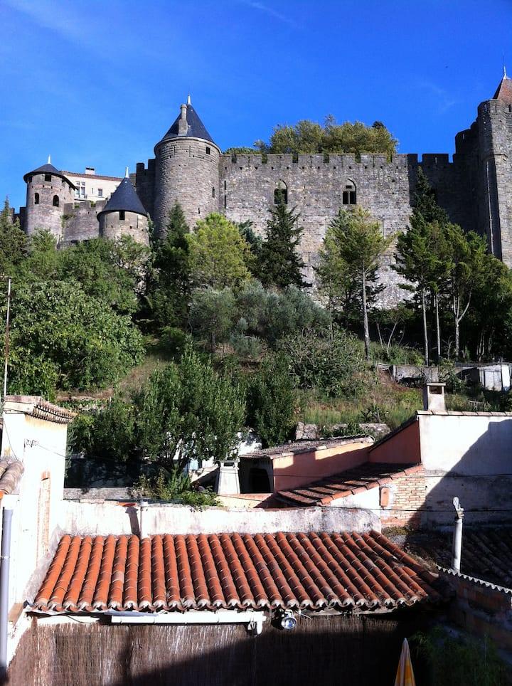 Maison des vignerons sous les remparts de la cité