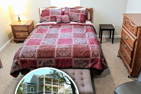 Cozy Bedroom in a New Spacious Home Downtown
