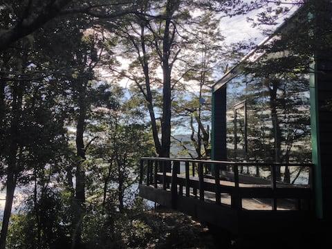 Palafito del Bosque - Casa del árbol, vista al mar