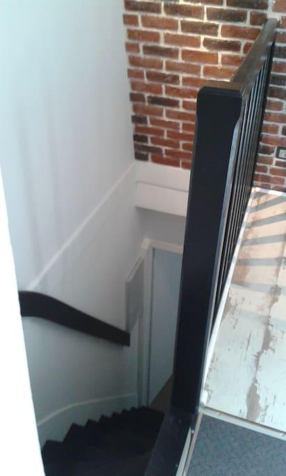 Entrée par escalier privé