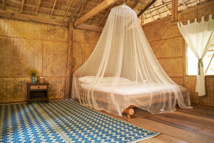 Nature private bamboo hut