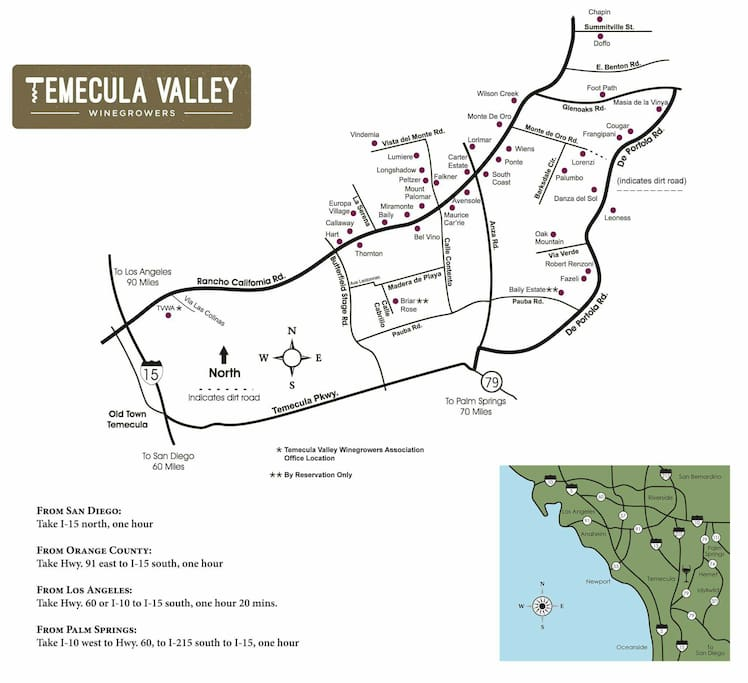 Temecula winery map.