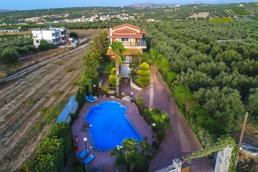 Villa Manos - view from above