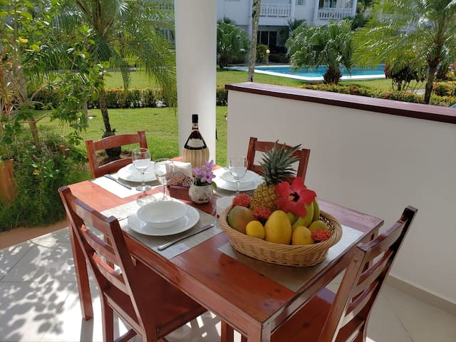 Exterieur terrace for your dining