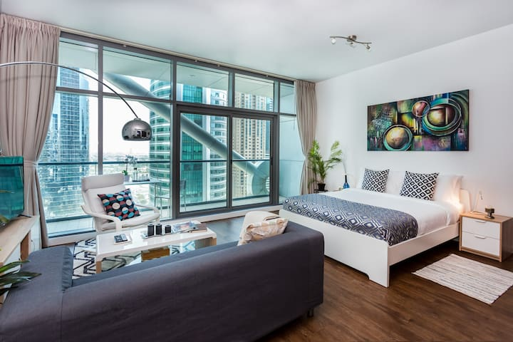 Bright Studio 5' to Jumeirah Beach&Marina Mall