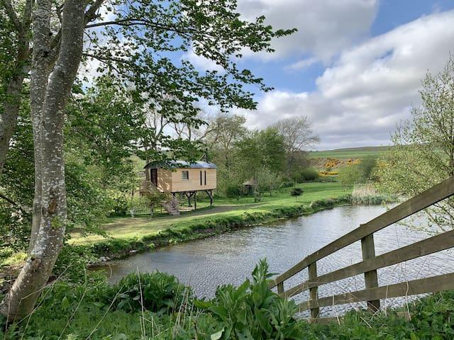 Stilt House: cool treehouse cabin for 1-3