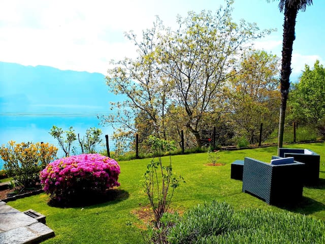 Typical house with a view on Lake Maggiore