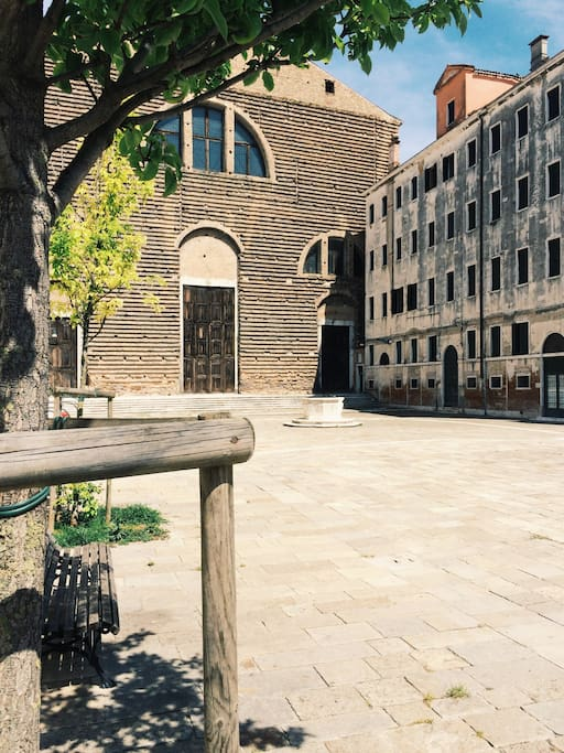 "The apartment is located on a very quiet and relaxing ""campo"" (square) of the most beautiful and authentic ""Sestiere"" (quarter) of the city. Within 5 minutes walk you can be in St. Mark's Square and main attractions, though."