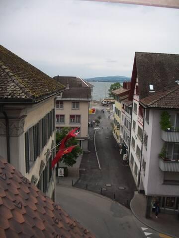 Maisonette Wohnung mit Seesicht und Dachterrasse