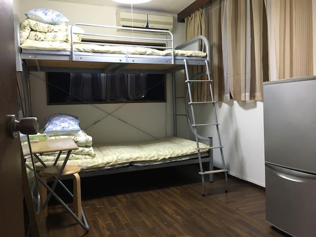 Lucky House private room (NO Share)in Shinjuku 1 - Shinjuku-ku - Leilighet