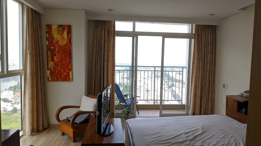 19th floor room with private bathroom and balcony