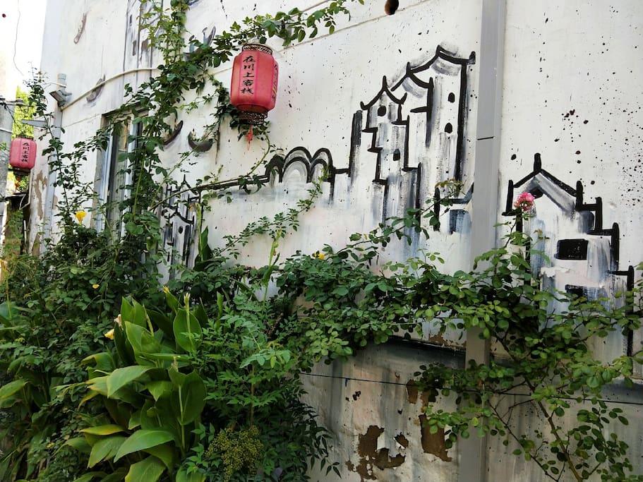 蔷薇爬满墙