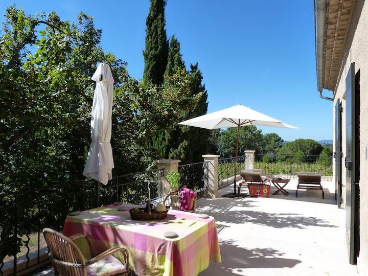 Villa-Apartment with parc, terrace, Lourmarin