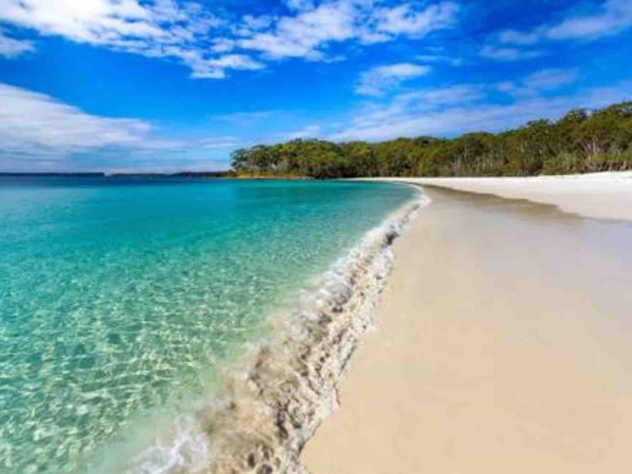 Crystal clear waters of Jervis Bay! Are only 5 minutes walk away.