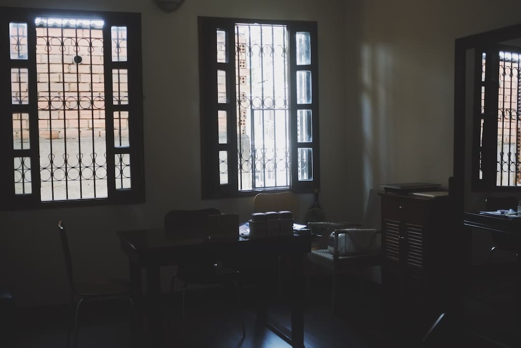 Private office and kitchen
