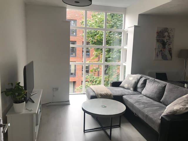 Guest room on newly furbished flat next to town